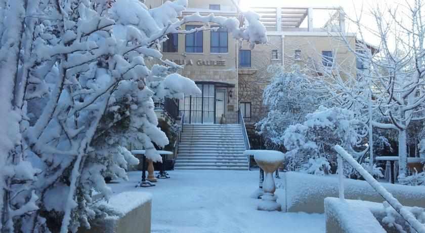 שלג במלון וילה גליליי בצפת
